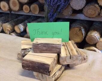 Set Of 9 Rustic Oak Businesss Card Holders, Oak Card Holders, Rustic Wood  Name Card Holders, Wood Desk Accessory, Rustic Office Decor