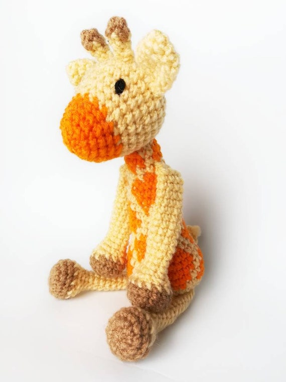 Giraffe Baby Rattle Crochet Giraffe Stuffed Animals For Etsy