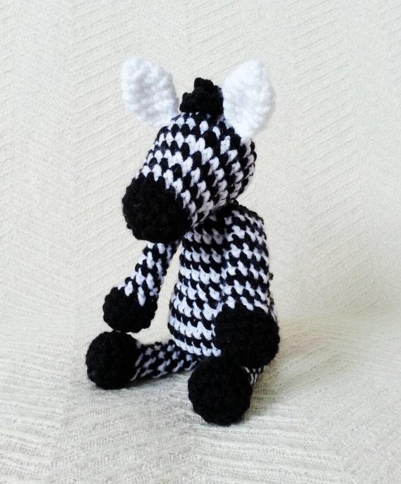 Zebra Rassel Häkeln Zebra Kuscheltiere Für Babys Etsy