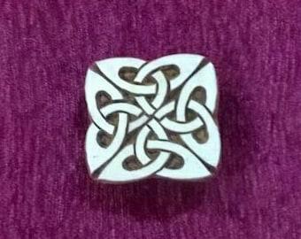 Celtic knot indian wood stamp, pottery stamps, textile stamps, hand carved printing block, tjaps, batik stamps