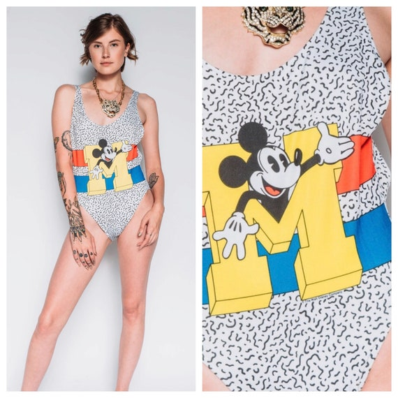 1990s Catalina Mickey Mouse one piece swimsuit