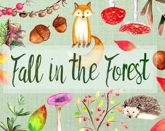 Fall in the Forest Clip Art Set
