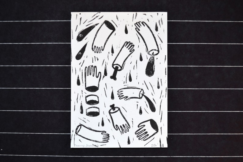 Lining A6 Cut Hands image 0