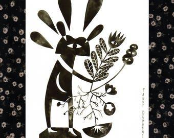 """Map illustration A5 """"strange gardener"""""""