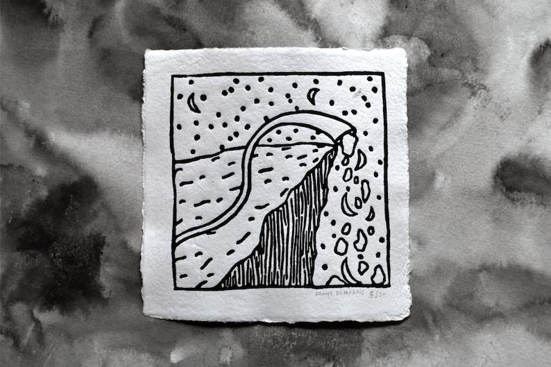 Linogravure Falaise image 0
