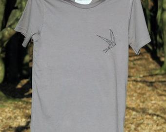 Geometric Swallow T-shirt | Bird T-shirt | Animal T-shirt | Illustrated T-shirt