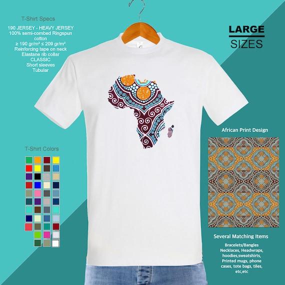 Africa shirt, Ankara print t shirt, african print fabric map, Afro american tee, Tissu wax africain, Afrika t shirt
