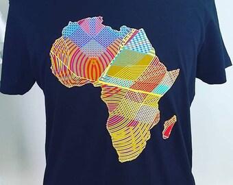 Africa Shirt For Man African Clothing Ankara Wax Fabric Map
