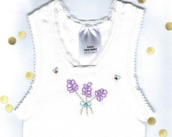 Embroidered baby Singlets size 0