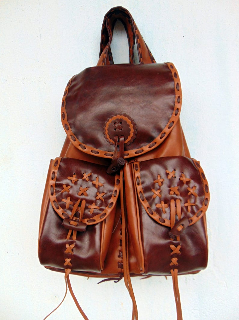 5018ca5808f25 Backpack.Backpacks.Handmade Leder. Land westlichen Tasche.