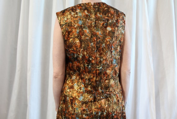 1960s Lurex brocade shift and shell set by Nardis