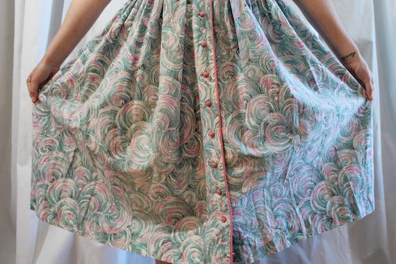 1950s Cotton Day Dress - image 9