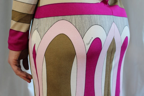 Paganne Geometric Bodycon party dress 1960s 1970s