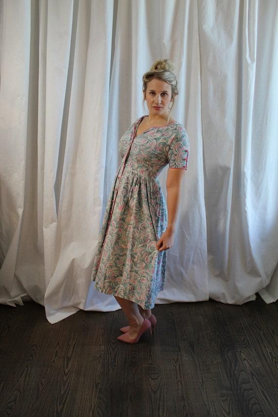 1950s Cotton Day Dress - image 6