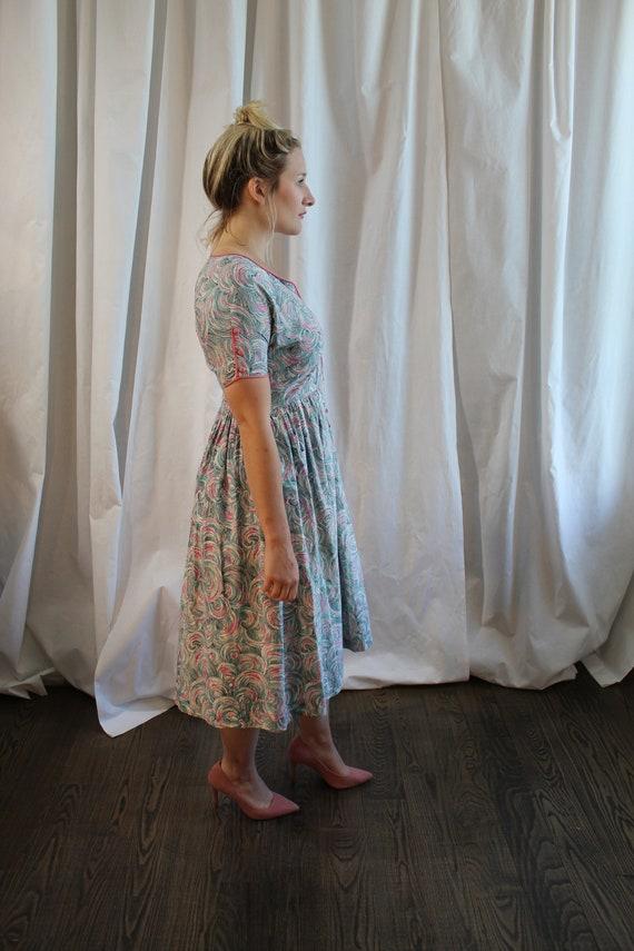1950s Cotton Day Dress - image 4
