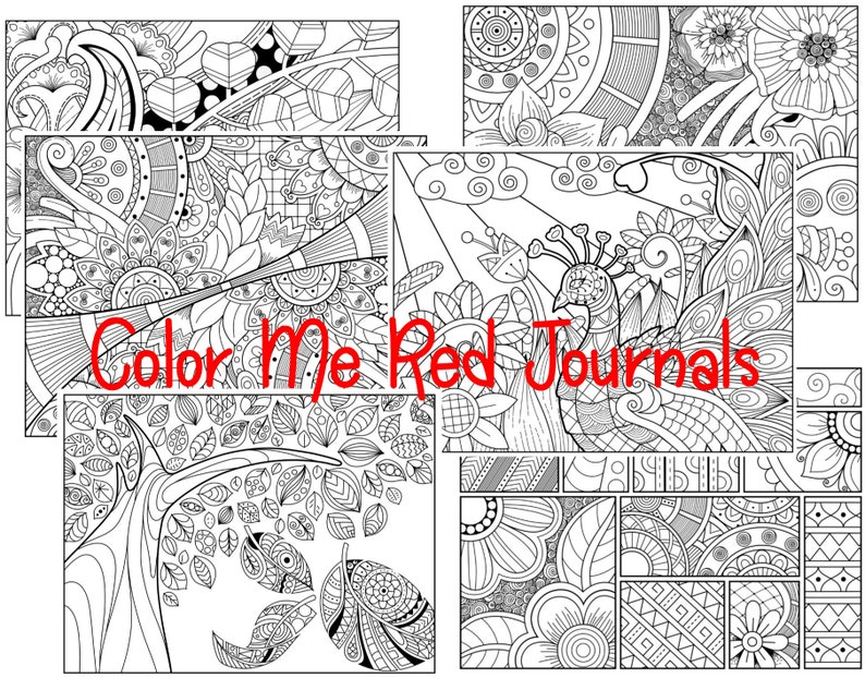 Detailed Coloring Sheets Set 1 - 20 Patterned Coloring Pages for  Relaxation, Meditation, Color Therapy