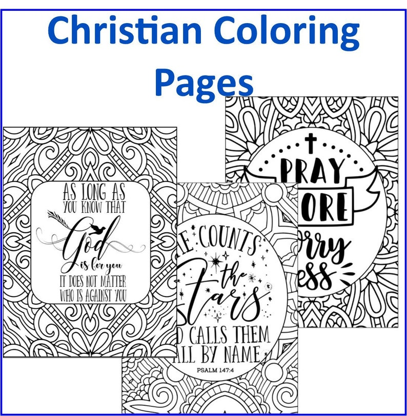 Christian Coloring Pages- 20 Bible and Christian Based Teaching Coloring  Pages