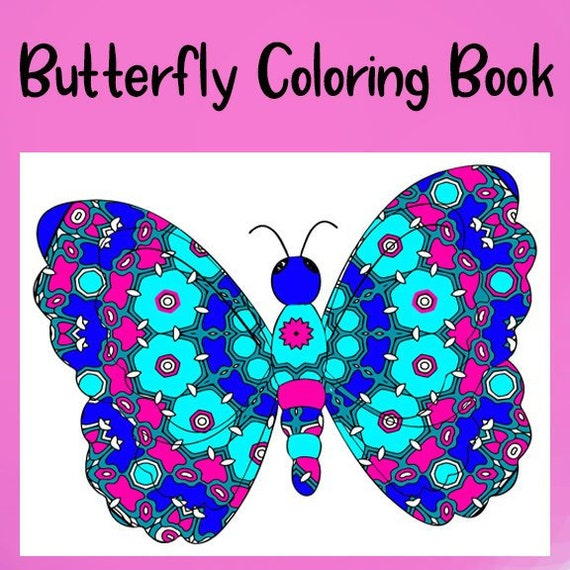 Butterfly Mandala Zentangle Designs Coloring Book 30 Etsy