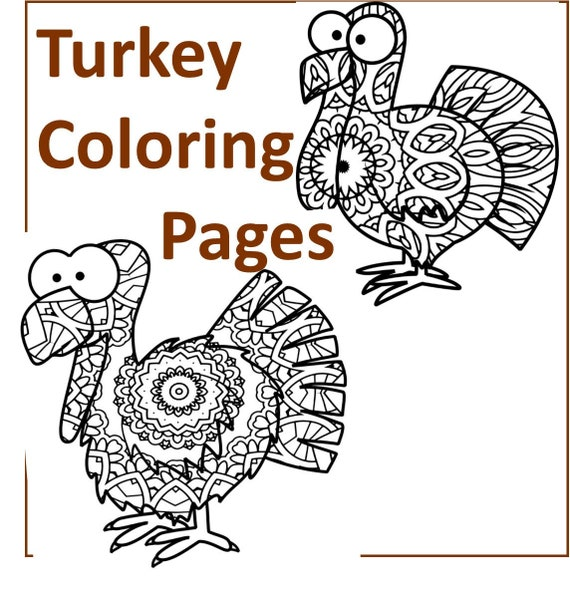 Turkey Coloring Pages- 40 Thanksgiving Theme Coloring Sheets