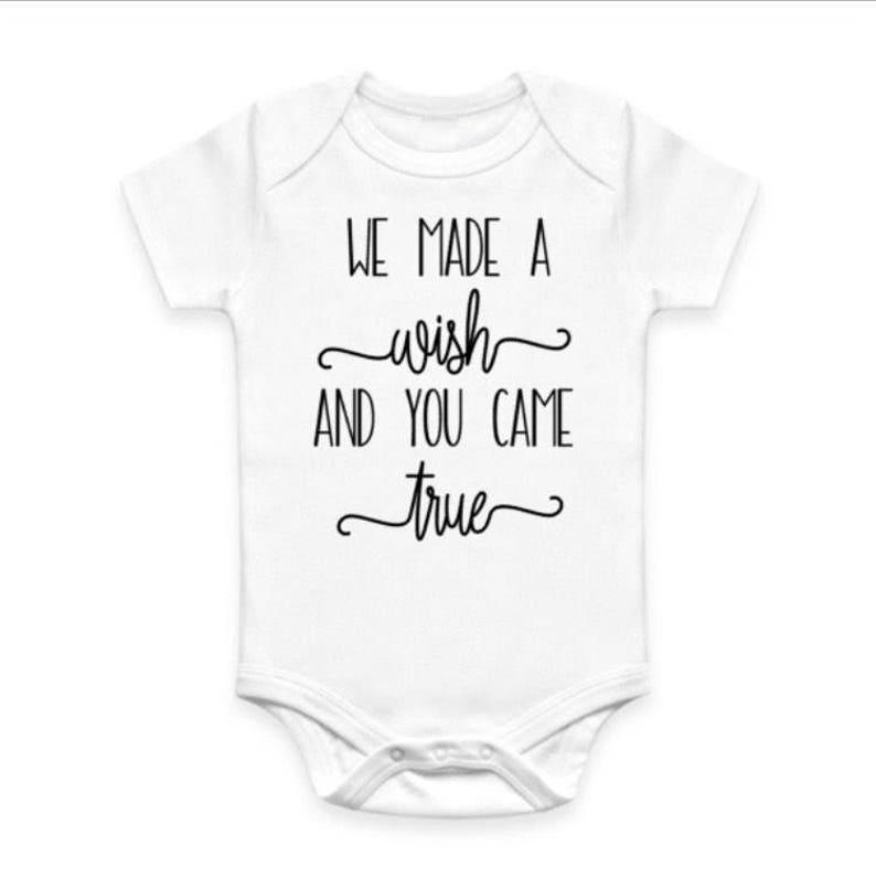 cd382ed9e We Made a Wish Baby Bodysuit   Etsy