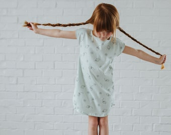 Boat Neck Dress in Berry Patch