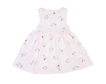 Button Back Dress in Forest Friends