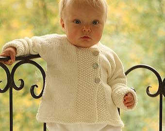 knitted BABYJÄCKCHEN BABYJACKE STRICKJACKE Color choice