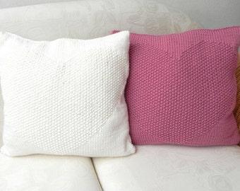 knitted KISSEN KISSENHÜLLE STRICKKISSEN pillow cover decorative pillow