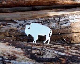 Buffalo Jewelry.American Buffalo.American Bison.Manu0027s Jewelry.Lapel Pin.Buffalo  Brooch.Boyu0027s Jewelry.Buffalo Gift.National Symbol.Bison Gift