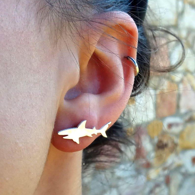 11. Shark earrings