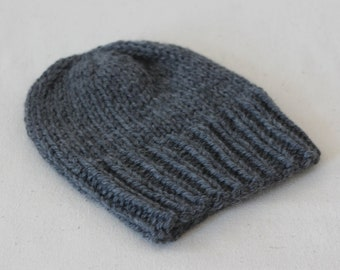 100% wool hand knit hat