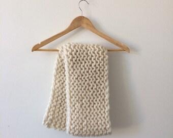 Hand knit scarf - 100% Peruvian highland wool
