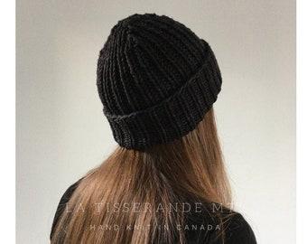 The Ribbed Beanie in Merino wool