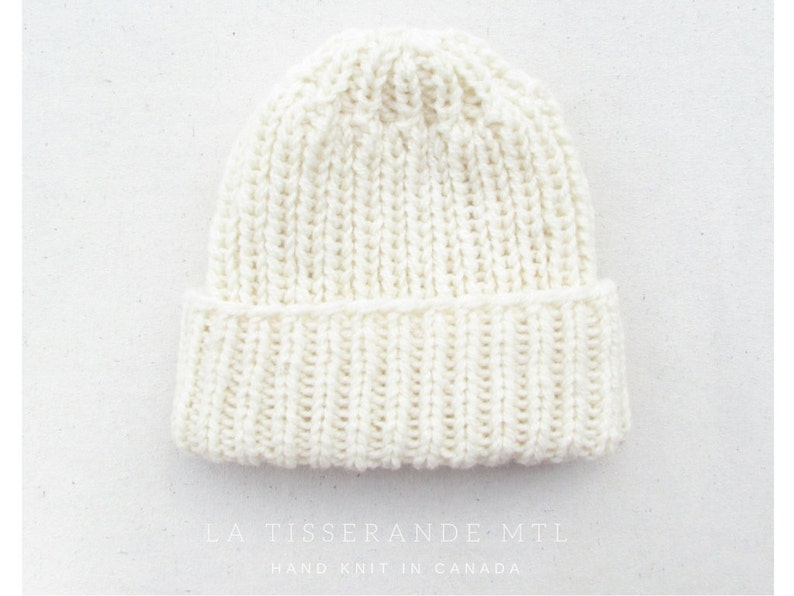 fisherman beanie White beanie knitted hat  The Ribbed Beanie in White womens beanie knit hat wool beanie