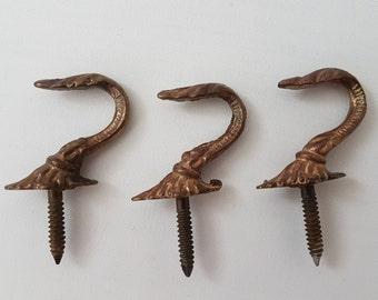 Antique Victorian hook | Solid brass | Kitchen hook | Coat hook | Lamp hook | Sky planter hook | Painting hook #38A5BBX10