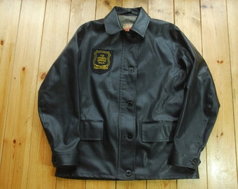 5a068f4eb9 Rare Vintage 40's/50's PVC Belstaff Lightning Zip Up Weatherproof Jacket  Coat 38