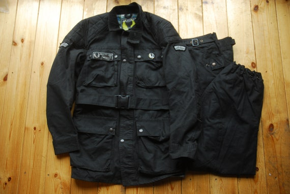 3709bead9e Rare 90's Belstaff x Drizabone Trialmaster Black Waxed | Etsy