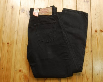 Vintage Deadstock 90's Black Denim Levi 501's Made in USA Irregular 36x30