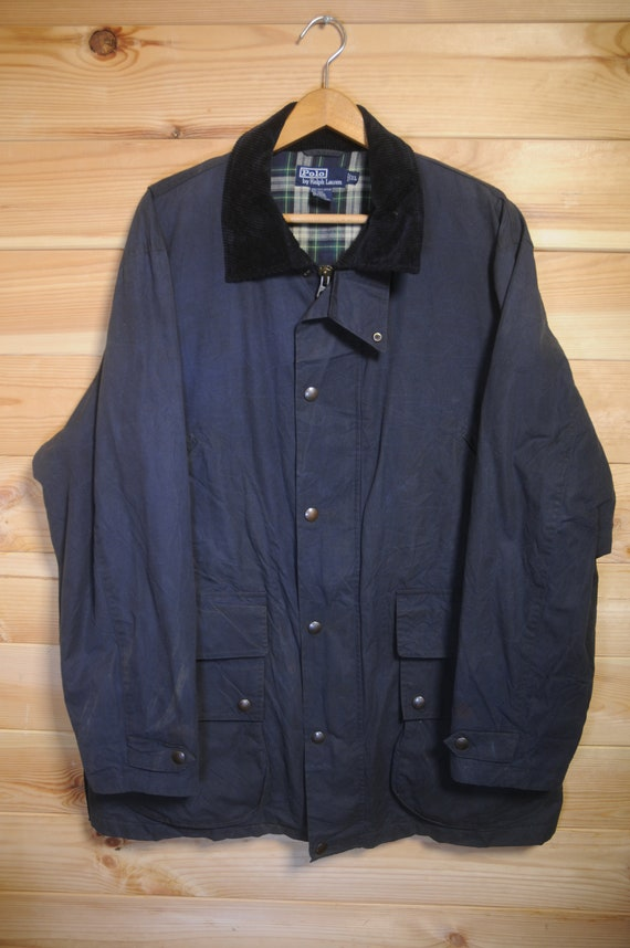 Vintage Polo Ralph Lauren Waxed Field Jacket Coat… - image 2