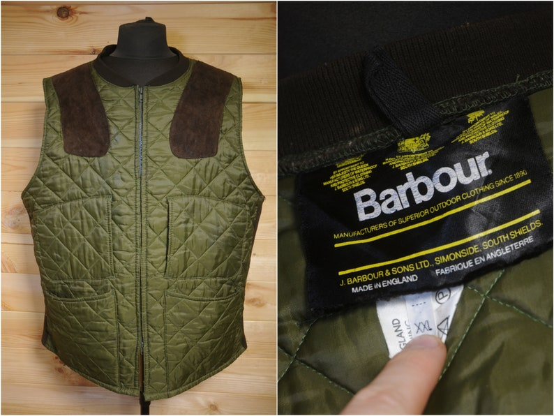 New Mens XL Padded Wax Waistcoat Vest Gilet Bodywarmer GREEN