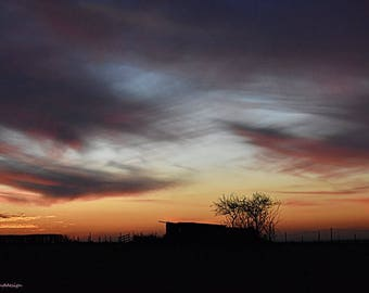 Sunset, original photographic print, nature, landscape
