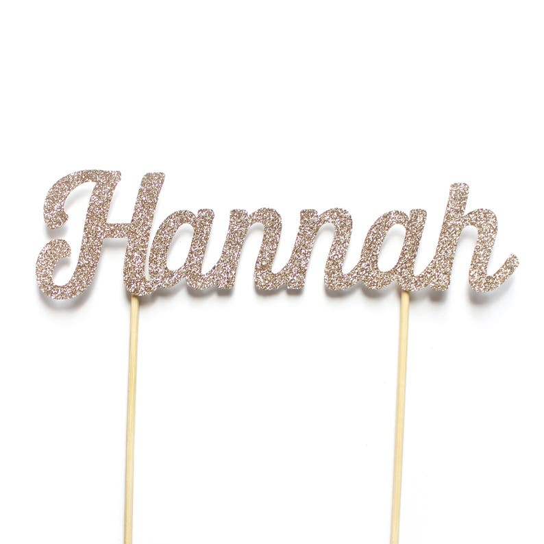 Personalised Name Birthday Cake Topper ~ Birthday Decorations ~ First Birthday ~ 1st Birthday Party Accessories ~  # Name Cake Topper ~