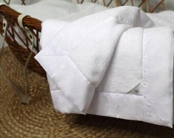 Blanket - baby blanket - baby boy quilt - stroller blanket - embroidery English