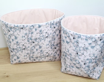 Storage basket - reversible - quilted fabric - storage baskets - fabric baskets - storage layers