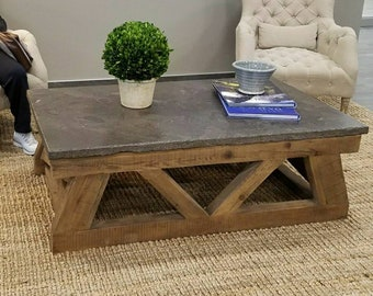 Concrete Top Coffee Table   Rustic Concrete Coffee Table, Concrete  Farmhouse Coffee Table, (LOCAL PICKUP ONLY)