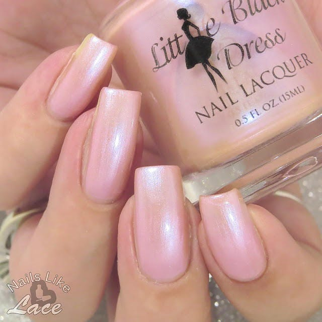 Renew - Neutral pink nail polish with iridescent glow - neutral ...