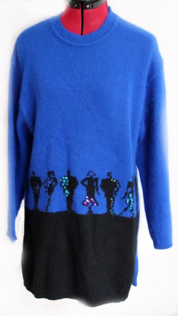 Vintage 1980's Jazzy Sweater Dress