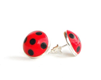 Ladybug earring, STAINLESS STEEL Miraculous ladybug earrings, Ladybug prodigy, Marinette Cheng, Ladybug Cosplay, Tales of Ladybug & Cat Noir