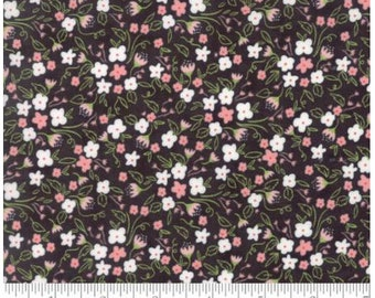 Blackboard / Black Florals Fabric by Lella Boutique, Olive's Flower Market for MODA fabrics