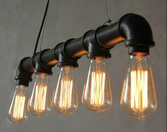 3, 5 or 8 bulbs vintage pendant lamp